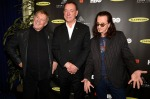 Inductees Rush arrive at the 2013 Rock and Roll Hall of Fame induction ceremony in Los Angeles